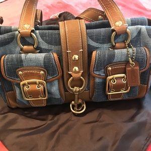 Coach Blue Denim Legacy Bag
